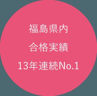 福島県内合格実績13年連続No.1
